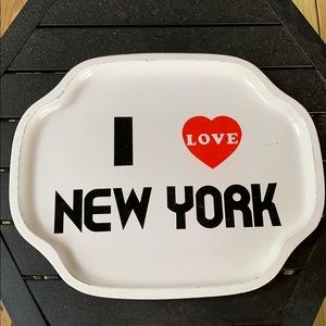 Vintage Metal I love New York Tray